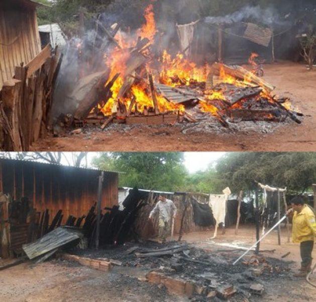 El incendio ocasionado por un hombre violento, fue sofocado por vecinos y personal de Parques Nacionales.