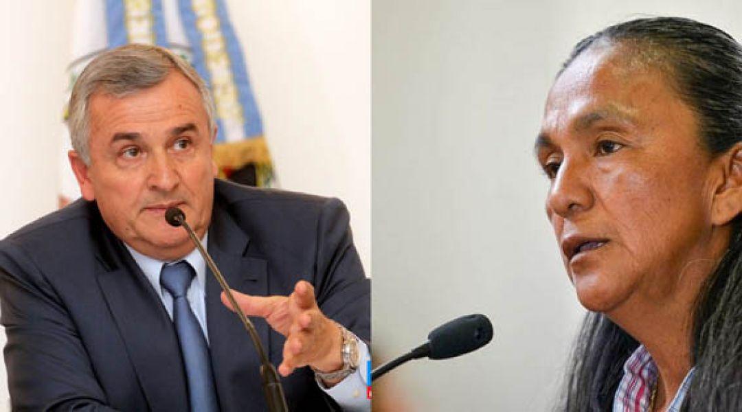 Gerardo Morales criticó a la Justicia porque Milagro Sala fue absuelta en una de las numerosas causas que se siguen en contra.
