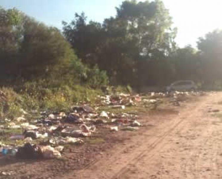 """""""Hay basura por todos lados"""", manifestaron los vecinos de El Tala."""