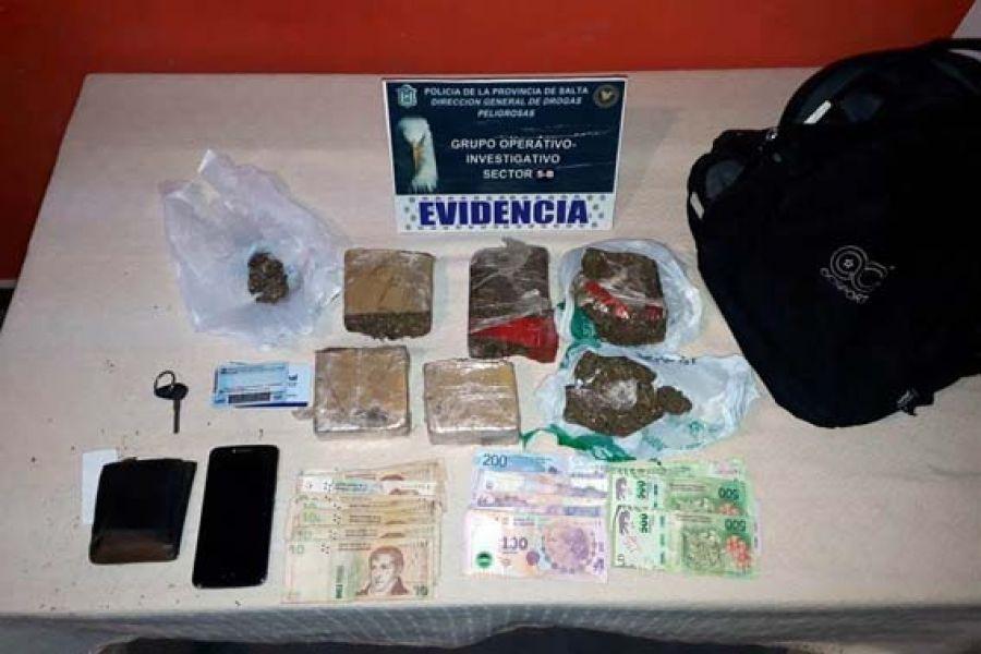 La droga fue incautada en Salta, Orán, Metán y General Güemes.