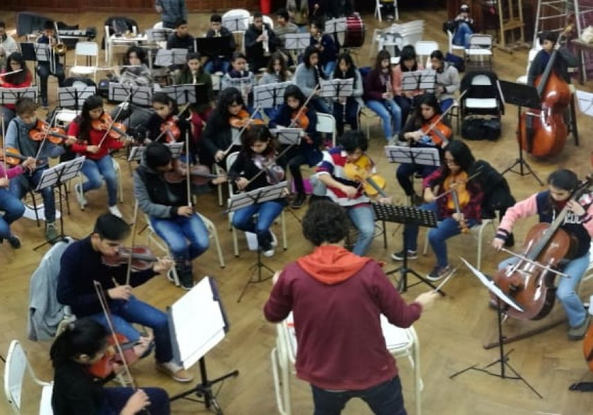 Durante noviembre y diciembre 2018, se preinscribieron 642 niños y jóvenes para el ciclo lectivo 2019 de la Orquesta Sinfónica Infantil y Juvenil.