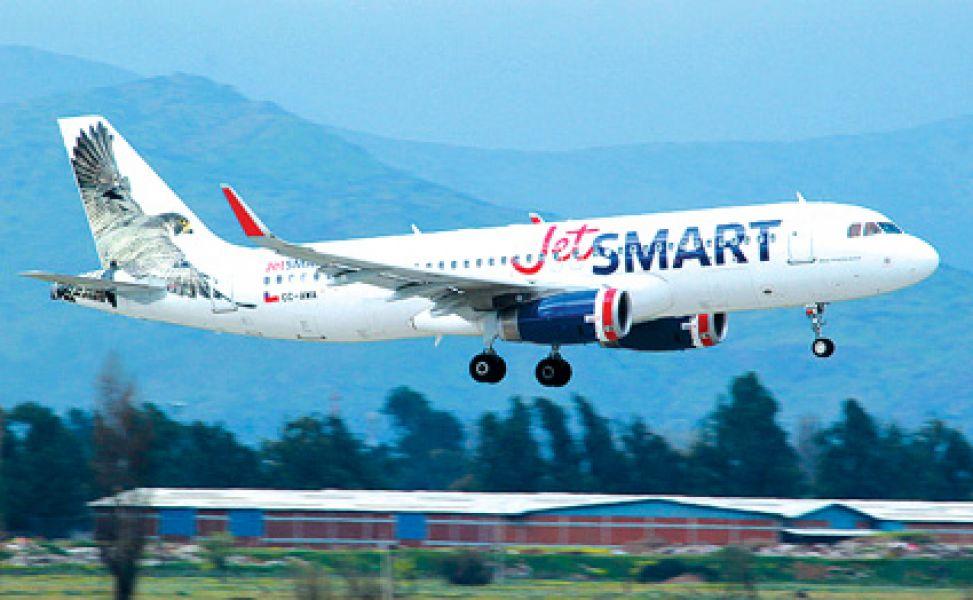 La aeronave de la empresa chilena JetSMART que comenzará a volar desde Salta a partir del 22 de abril.