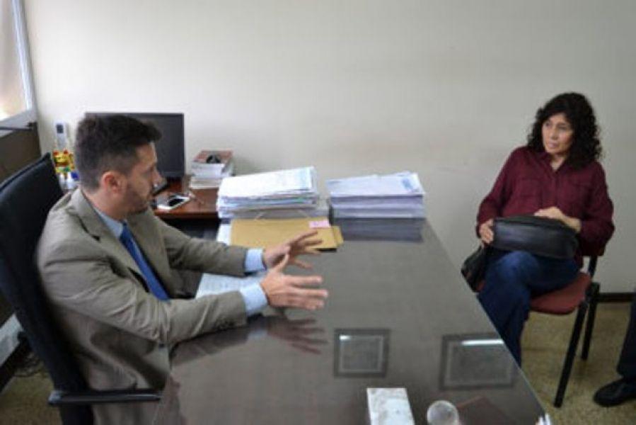 El fiscal Ramiro Ramos Ossorio  se reunió con los padres de Gala Cancinos.