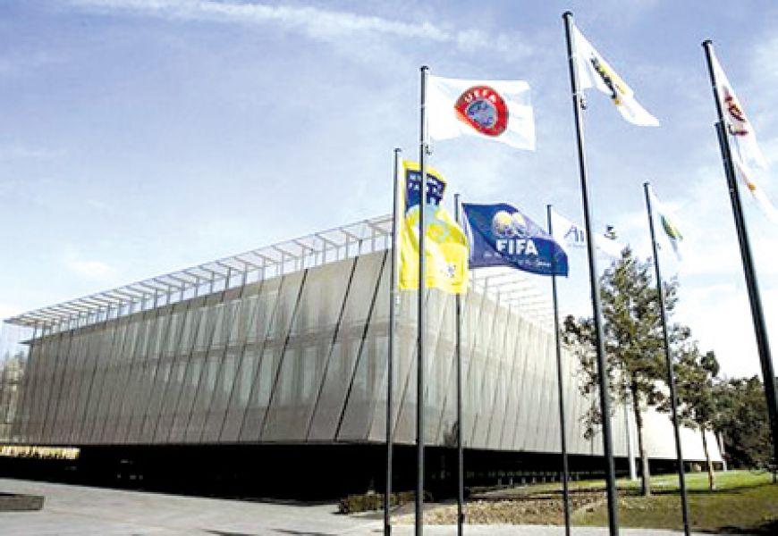 La sede la UEFA. Todas las miradas están puestas ahí por el sorteo de cuartos.