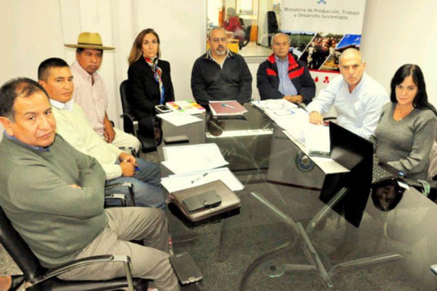 La reunión con los productores.