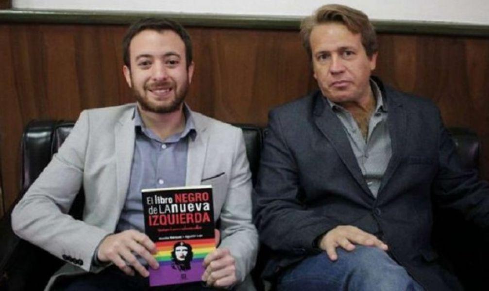 Los conferencistas Agustín Laje y Nicolás Márquez, escritor y abogado respectivamente.