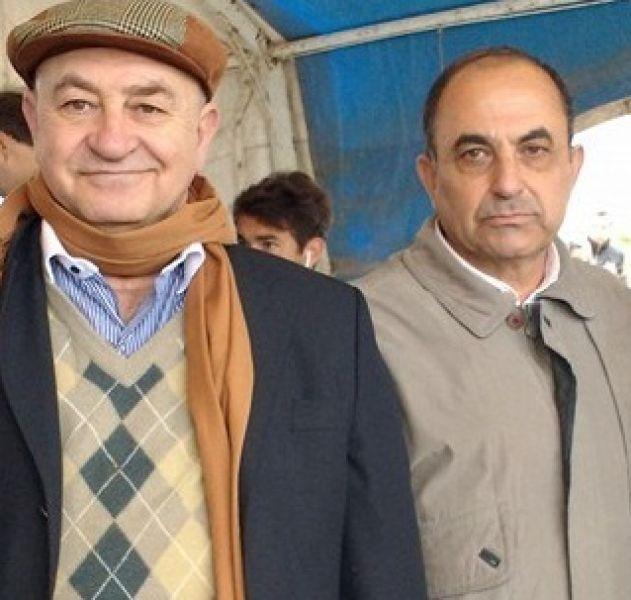 El intendente Atta Gerala (derecha), junto al senador por Rivadavia, Mashur Lapad.