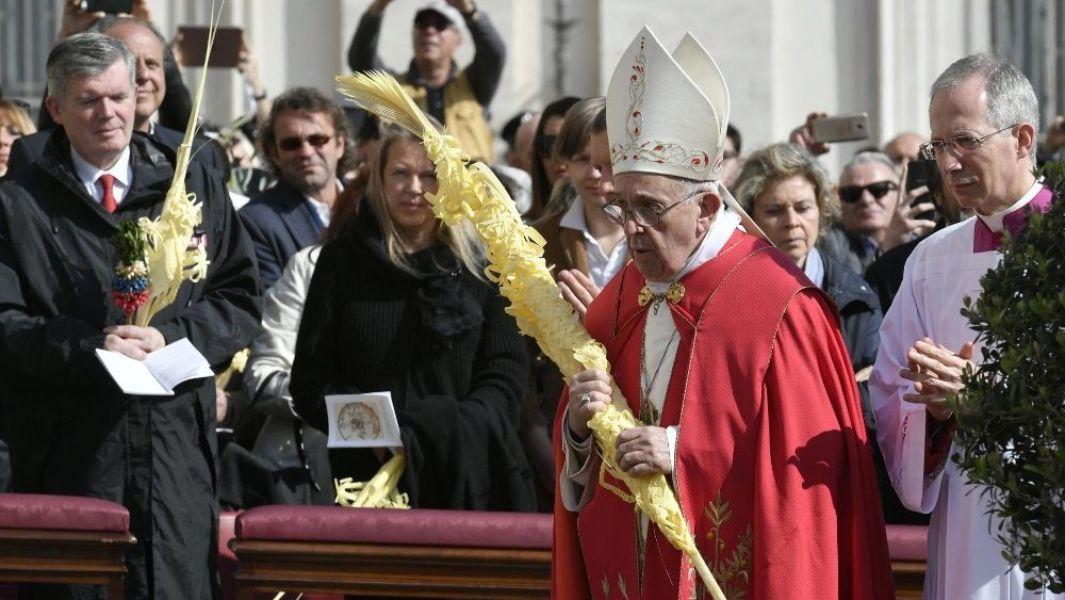 El Papa Francisco en su homilía en la Santa Misa del Domingo de Ramos y de la Pasión del Señor.