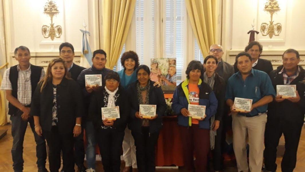 Representantes de organizaciones de turismo rural comunitario fueron galardonados por su aporte al desarrollo de su región.
