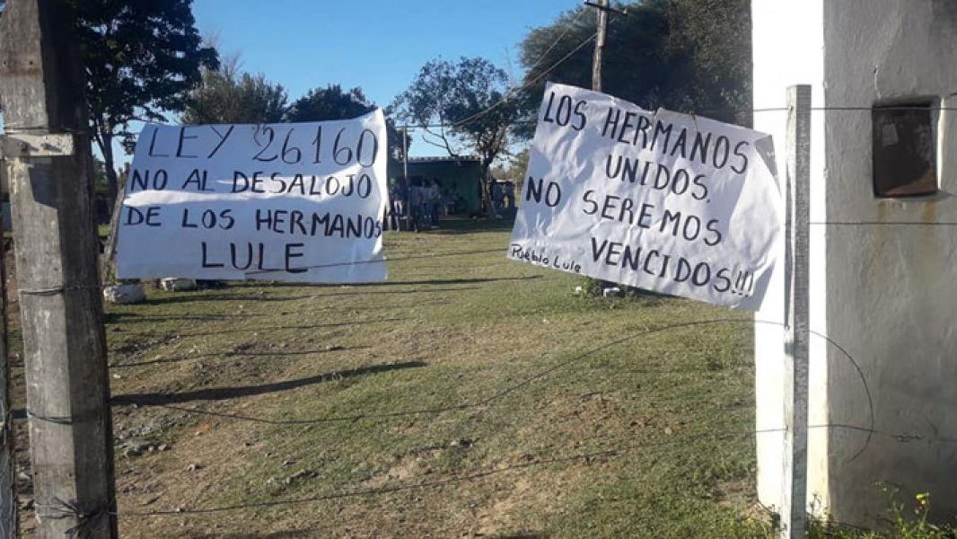Los integrantes de la comunidad Lule de Finca Las Costas se encuentran en Asamblea Permanente por una orden de desalojo.
