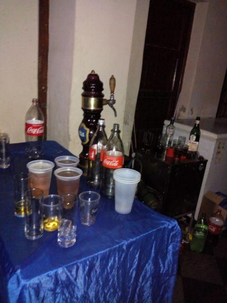 En las fiestas se expendían bebidas alcohólicas.