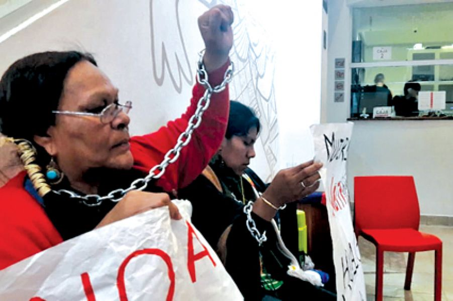 Ayer el MAAM cerró sus puertas a causa de la protesta de las mujeres en su interior.