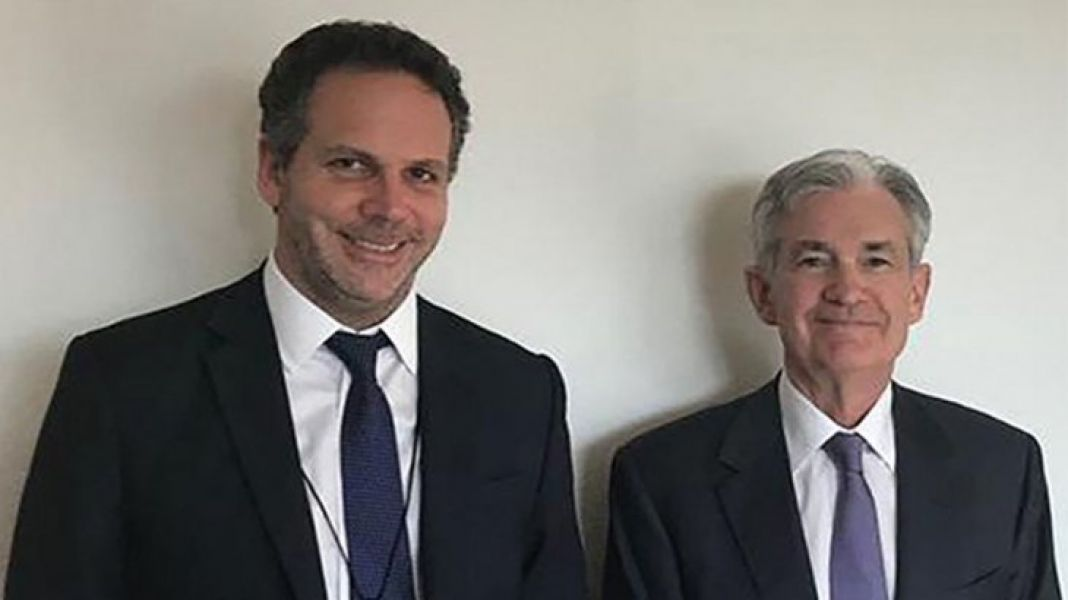 Guido Sandleris y Jerome Powell.