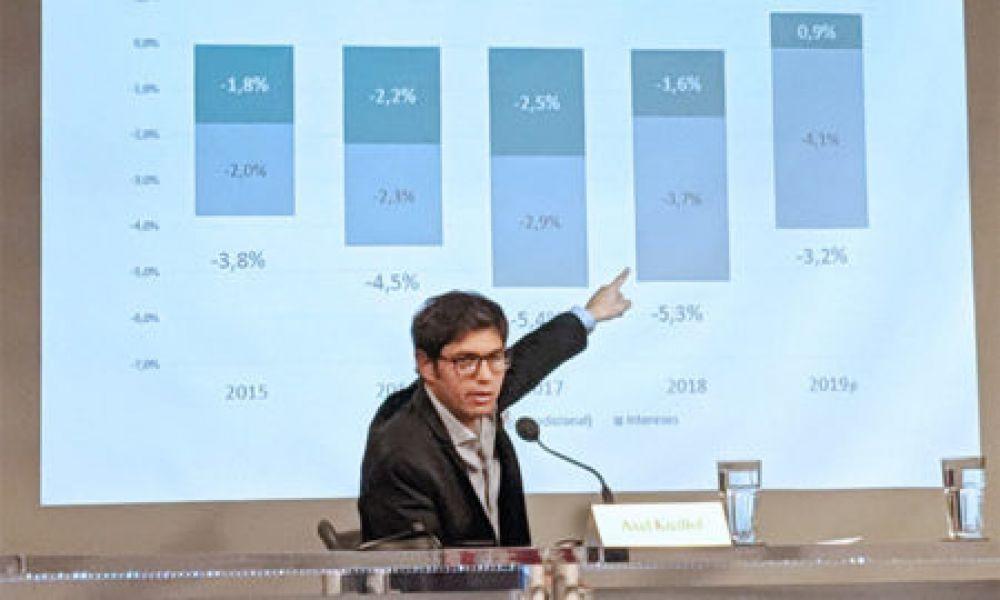"""Axel Kicillof afirmó en el Wilson Center que el gobierno de Mauricio Macri está manejando """"Tremendamente mal el timón"""" de la economía""""."""
