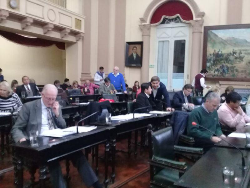 Sesión concretada ayer  en la Cámara de Diputados.