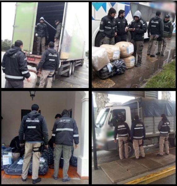 En un transporte de encomiendas y en un colectivo se detectó el contrabando.
