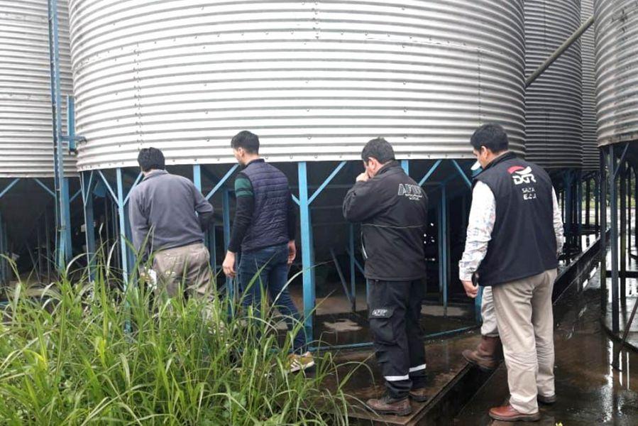 Un molino harinero en la localidad de Salvador Mazza durante el operativo de la AFIP y Rentas realizado la semana pasada.