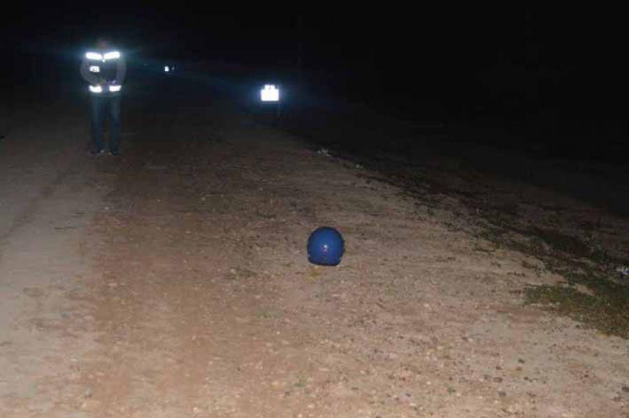 El accidente del motociclista ocurrió en la noche del miércoles en la ruta 54, en Rivadavia.