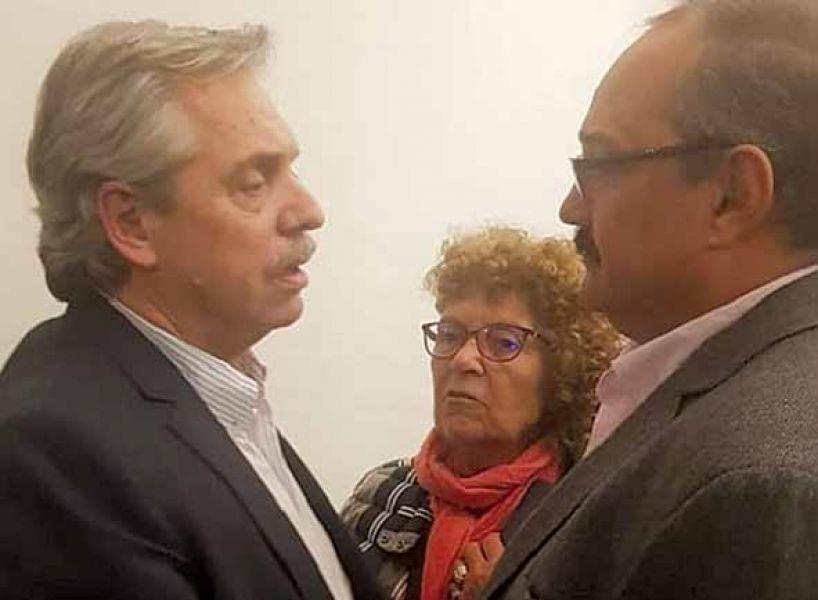 Encuentro en el Instituto Patria entre Fernández y Leavy.