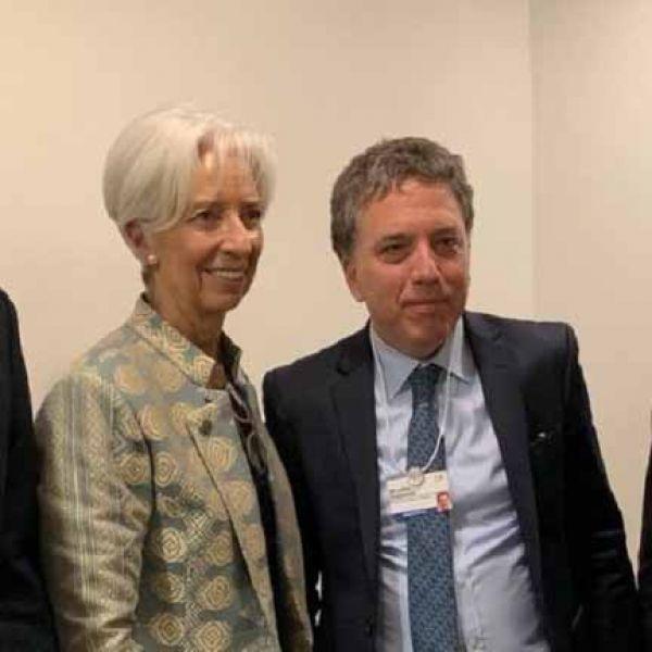 Una nueva reunión mantendrán Nicolás Dujovne y la titular del FMI, Christine Lagarde.