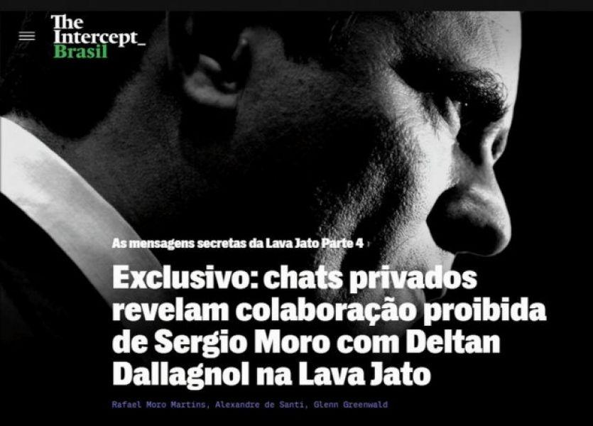 El sitio The Intercept reveló manejos del ex magistrado Sergio Moro, Ministro de Justicia de Jair Bolsonaro, con fiscales contra Lula.