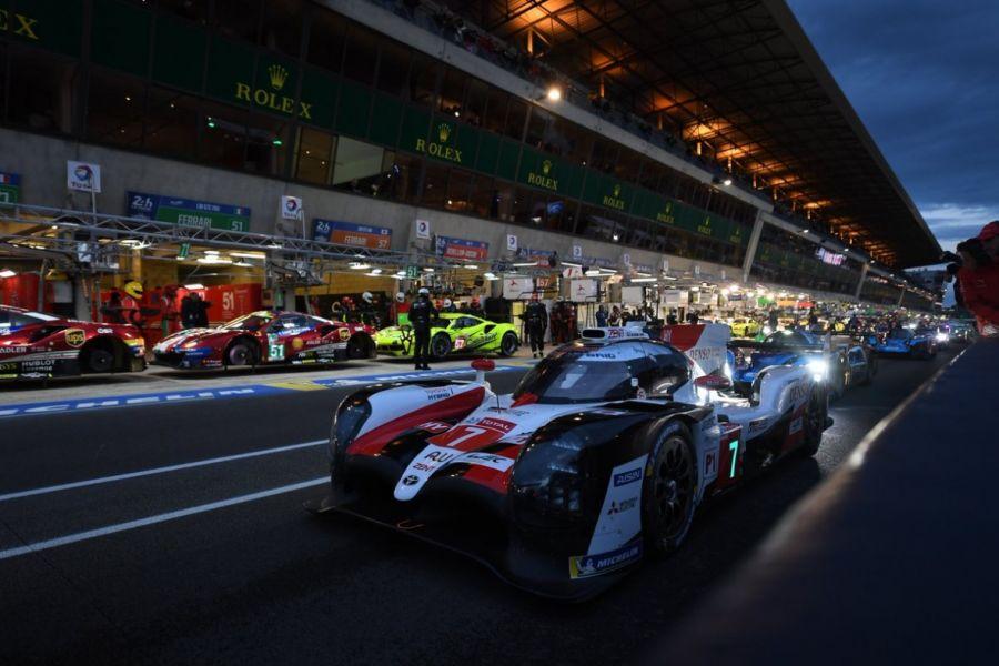 El Toyota Hibrid de José María López, espera que hoy llueva en Le Mans.