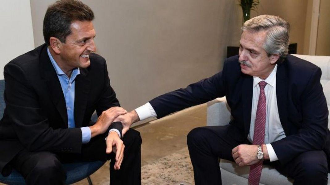 Alberto Fernández y Sergio Massa. Se unieron el PJ, Unidad Ciudadana, el Frente Renovador y otros 16 partidos para formar el Frente de Todos.
