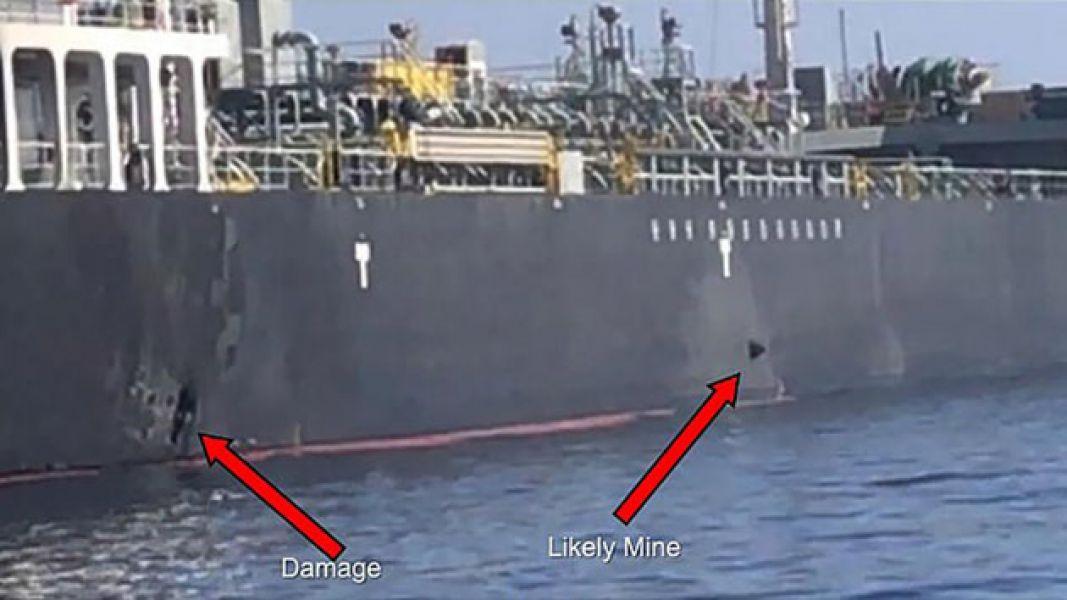 Los impactos en un buque se observan en la imagen.