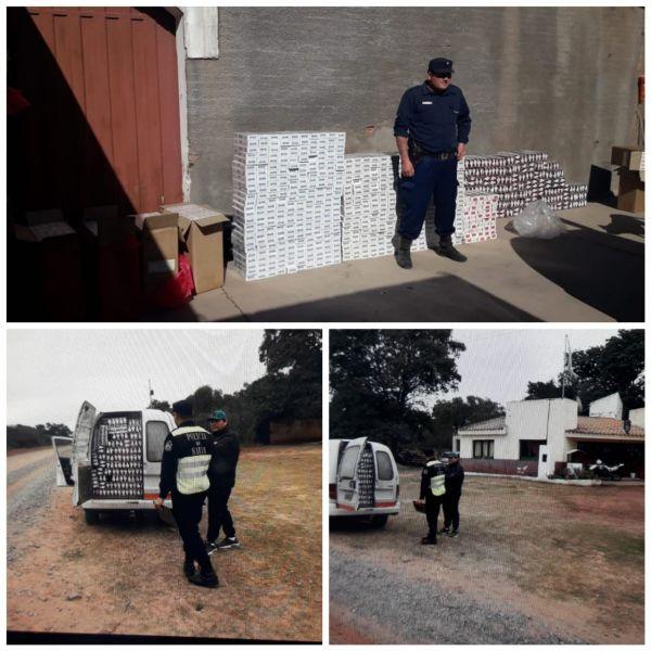 Los  cigarrillos fueron secuestrados por la policía y su poseedor detenido.