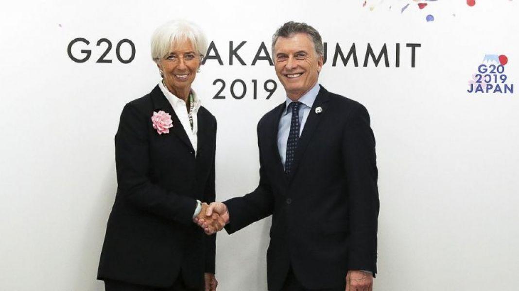 En Osaka en la cumbre del G20, el presidente Macri se reunió con Christine Lagar de.