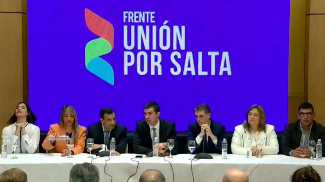 Urtubey en el lanzamiento de la campaña electoral presentó a los precandidatos de Unión por Salta.
