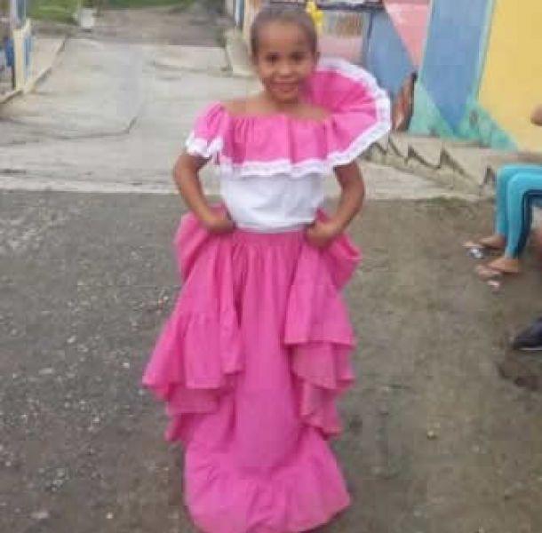 La nena venezolana de 7 años que su madre Maiby Álvarez, quiere traer a Salta para que viva con ella.
