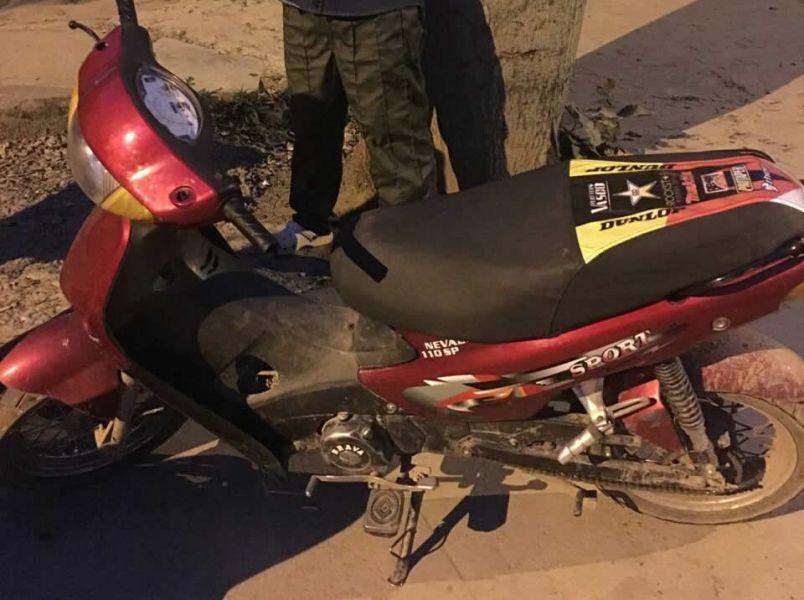 Una de las motocicletas que fue secuestrada y tenía denuncia de robo.