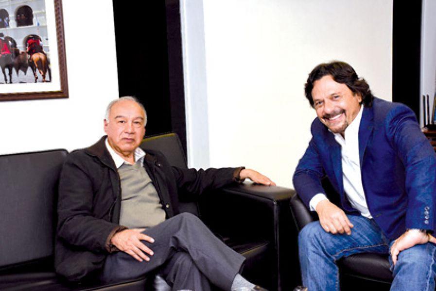 El intendente capitalino junto al titular del Partido Unión Victoria Popular, Lidoro Sánchez.