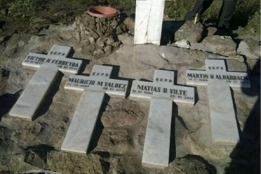 Homenaje a los cuatro brigadistas en Guachipas a casi cinco años de la trágica muerte por intentar sofocar un incendio forestal.