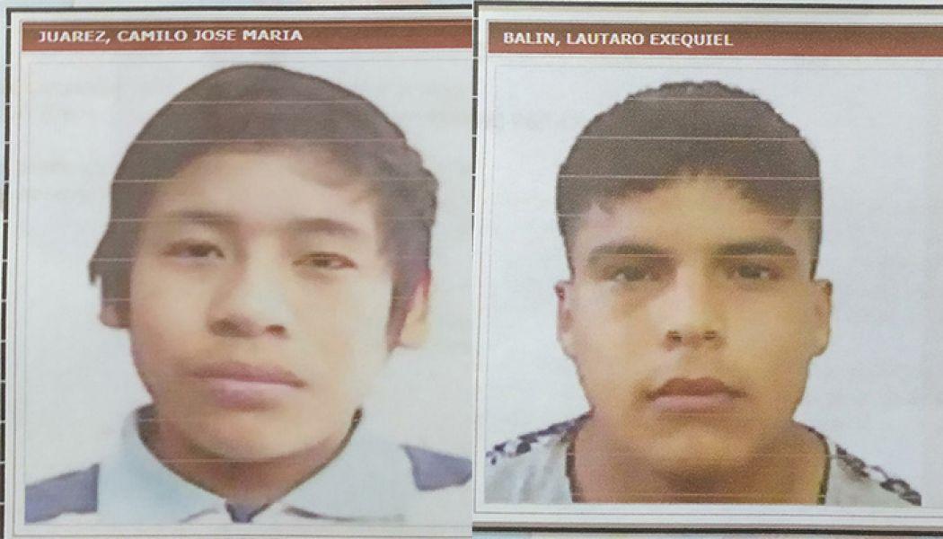Camilo José María J. y Lautaro Exequiel B.
