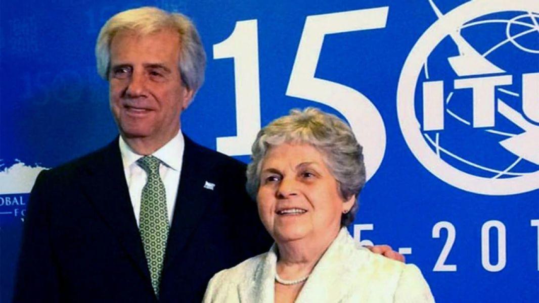 María Auxiliadora Delgado, esposa del presidente de Uruguay Tabaré Vázquez, la pareja presidencial.