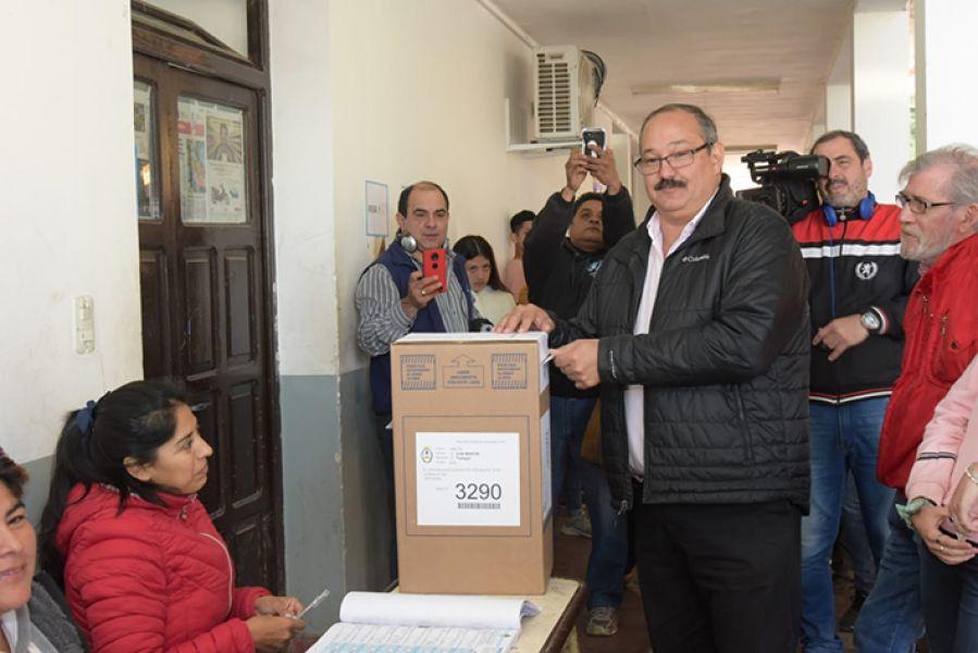 Sergio Leavy fue el más votado ayer en la categoría  de senador nacional.