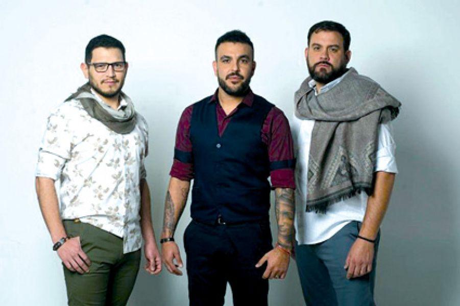 El trío folclórico salteño Javier Santillan , Fernando Zurdo Borjas , Juan Pablo Delgado, son Cabales.