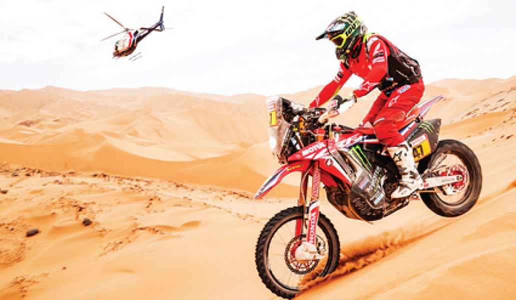 Kevin finalizó quinto en el último Dakar realizado en Perú.