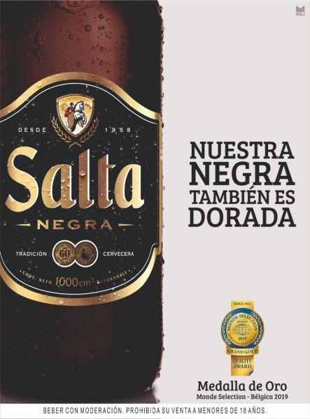Cerveza Salta,tiene más de 60 años en el mercado salteño, actualmente premiada a nivel internacional por su calidad.