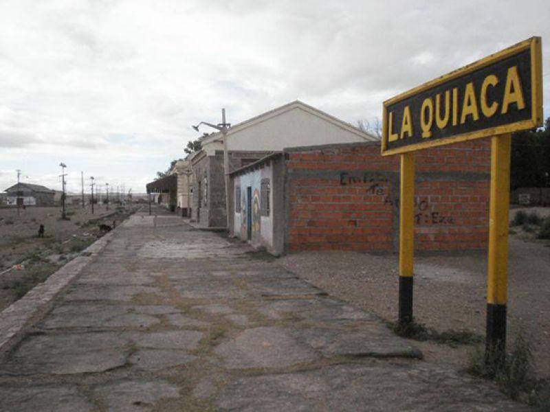 La estación ferroviaria de La Quiaca, en la frontera con Bolivia.