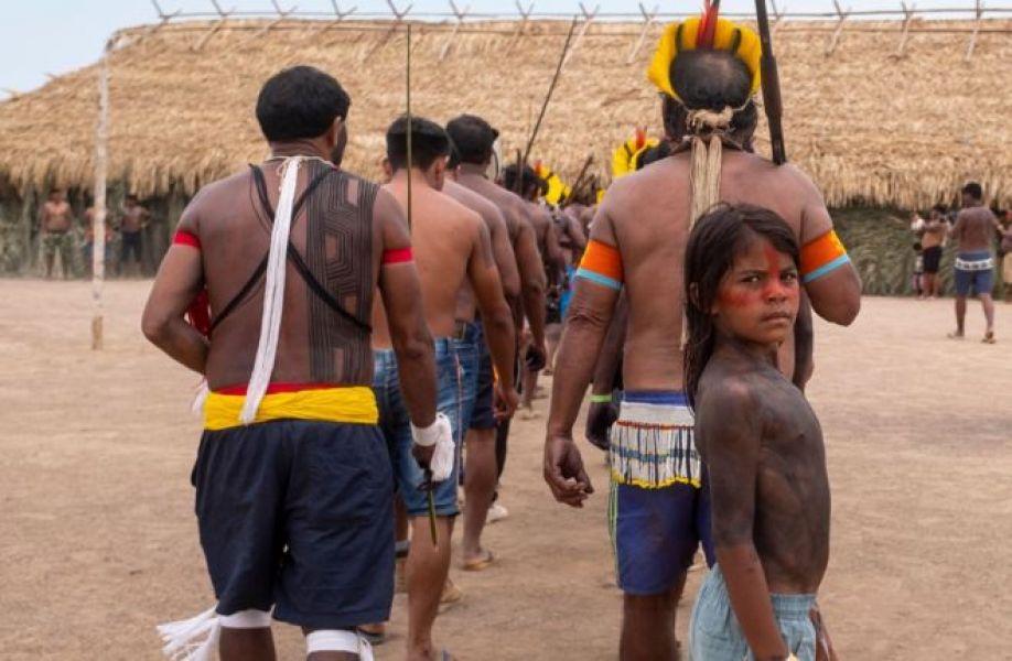 Reunión de indigenas en el sur de Pará.