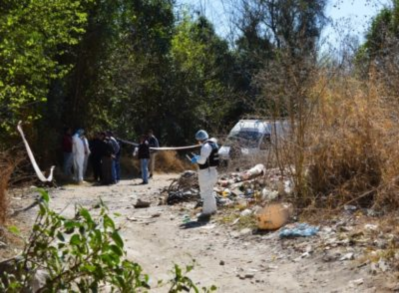 La investigación avanza en el caso del asesinato de Sandra Palomo. Los peritajes se hacen en el lugar donde encontraron el cuerpo.