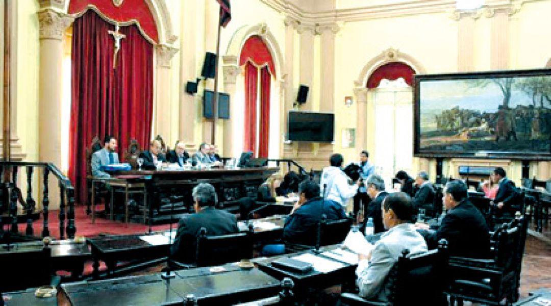 Última sesión del Senado Provincial.
