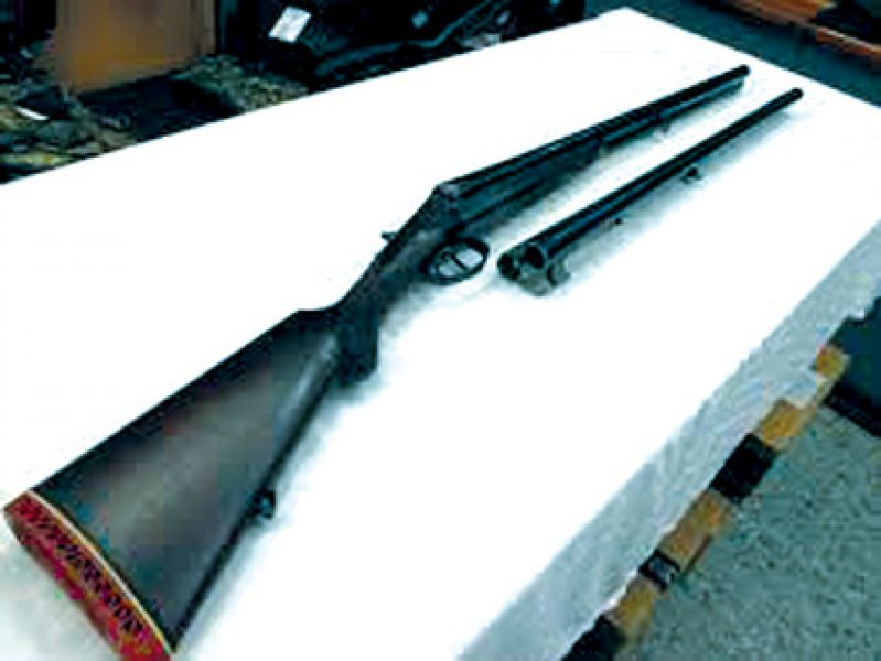 La banda no se llevó dinero sino un rifle y una escopeta.