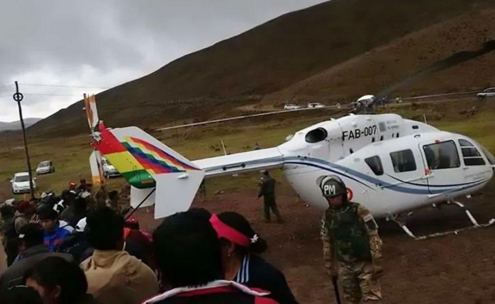 Activarán una Junta Investigadora de Accidentes para evaluar lo sucedido con el helicóptero que transportaba a Evo Morales.