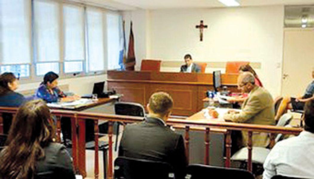 Audiencia en la Sala I del Tribunal de Juicio.
