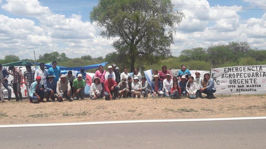 """""""Todos los días se nos mueren los animales"""", dicen angustiados campesinos que reclaman con un acampe el Chaco salteño."""