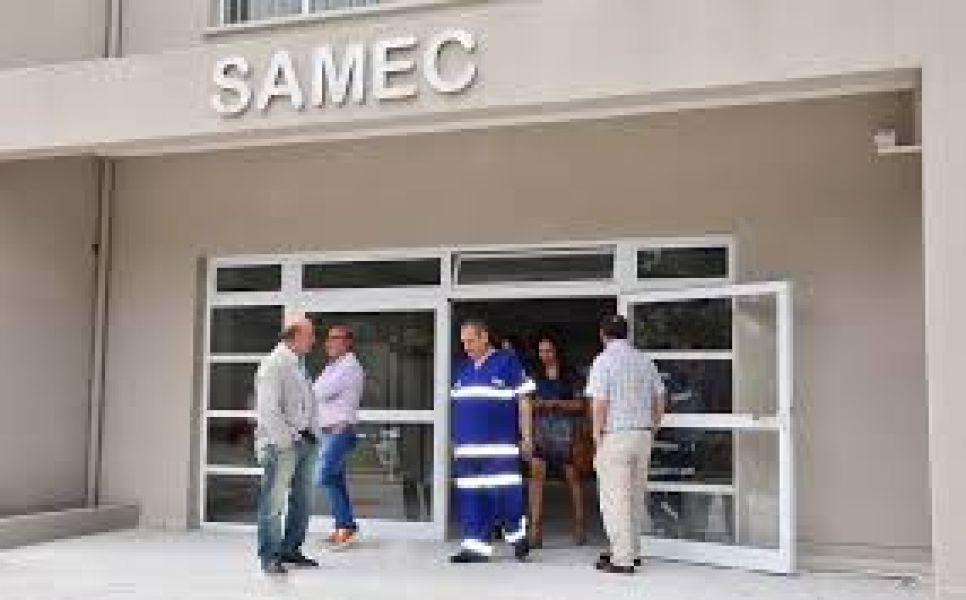 La semana pasada el Ministro de Salud recorrió las instalaciones del edificio del Samec que será inaugurado hoy.